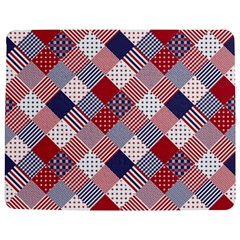USA Americana Diagonal Red White & Blue Quilt Jigsaw Puzzle Photo Stand (Rectangular)