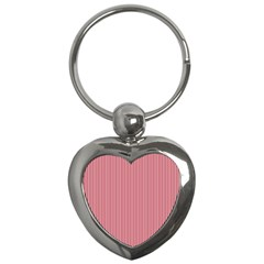 USA Flag Red and White Stripes Key Chains (Heart)