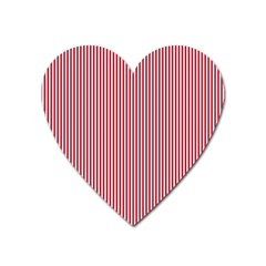 USA Flag Red and White Stripes Heart Magnet