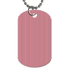 USA Flag Red and White Stripes Dog Tag (Two Sides)