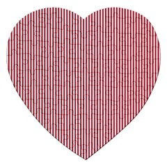 USA Flag Red and White Stripes Jigsaw Puzzle (Heart)