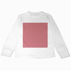 USA Flag Red and White Stripes Kids Long Sleeve T-Shirts