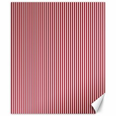 USA Flag Red and White Stripes Canvas 8  x 10