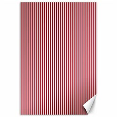 USA Flag Red and White Stripes Canvas 12  x 18