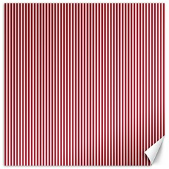 USA Flag Red and White Stripes Canvas 16  x 16