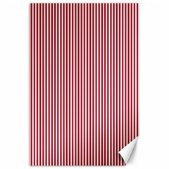 USA Flag Red and White Stripes Canvas 24  x 36
