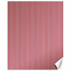 USA Flag Red and White Stripes Canvas 11  x 14