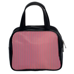 USA Flag Red and White Stripes Classic Handbags (2 Sides)