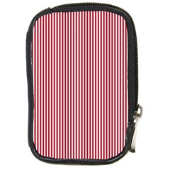 USA Flag Red and White Stripes Compact Camera Cases