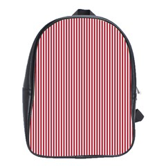 USA Flag Red and White Stripes School Bags(Large)
