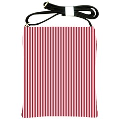 USA Flag Red and White Stripes Shoulder Sling Bags