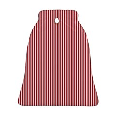 USA Flag Red and White Stripes Bell Ornament (Two Sides)
