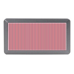 USA Flag Red and White Stripes Memory Card Reader (Mini)