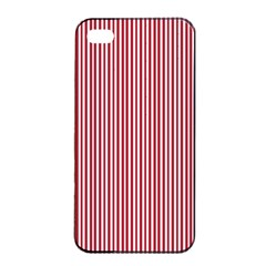 USA Flag Red and White Stripes Apple iPhone 4/4s Seamless Case (Black)