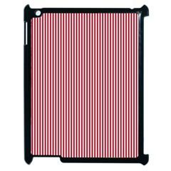 USA Flag Red and White Stripes Apple iPad 2 Case (Black)