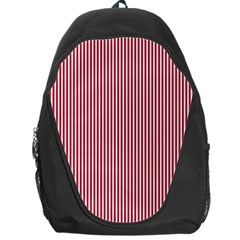 USA Flag Red and White Stripes Backpack Bag