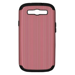 USA Flag Red and White Stripes Samsung Galaxy S III Hardshell Case (PC+Silicone)