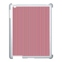 USA Flag Red and White Stripes Apple iPad 3/4 Case (White)