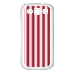 USA Flag Red and White Stripes Samsung Galaxy S3 Back Case (White)