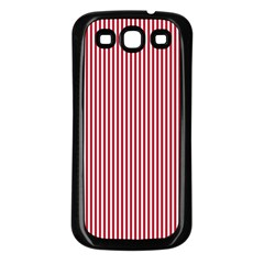 USA Flag Red and White Stripes Samsung Galaxy S3 Back Case (Black)