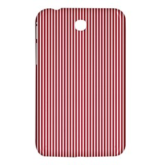 USA Flag Red and White Stripes Samsung Galaxy Tab 3 (7 ) P3200 Hardshell Case