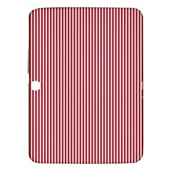 Usa Flag Red And White Stripes Samsung Galaxy Tab 3 (10 1 ) P5200 Hardshell Case