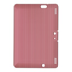USA Flag Red and White Stripes Kindle Fire HDX 8.9  Hardshell Case