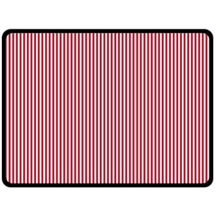 USA Flag Red and White Stripes Double Sided Fleece Blanket (Large)