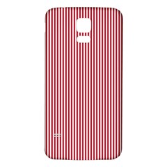 USA Flag Red and White Stripes Samsung Galaxy S5 Back Case (White)