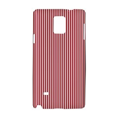 USA Flag Red and White Stripes Samsung Galaxy Note 4 Hardshell Case