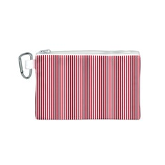 USA Flag Red and White Stripes Canvas Cosmetic Bag (S)