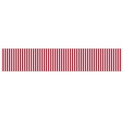 USA Flag Red and White Stripes Flano Scarf (Large)