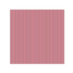 USA Flag Red and White Stripes Small Satin Scarf (Square)