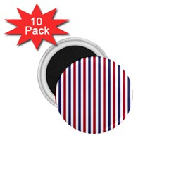 USA Flag Red White and Flag Blue Wide Stripes 1.75  Magnets (10 pack)
