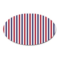 USA Flag Red White and Flag Blue Wide Stripes Oval Magnet
