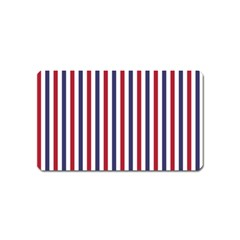 USA Flag Red White and Flag Blue Wide Stripes Magnet (Name Card)