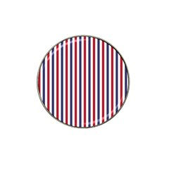 USA Flag Red White and Flag Blue Wide Stripes Hat Clip Ball Marker (10 pack)