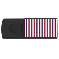 USA Flag Red White and Flag Blue Wide Stripes USB Flash Drive Rectangular (4 GB)