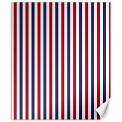 USA Flag Red White and Flag Blue Wide Stripes Canvas 8  x 10