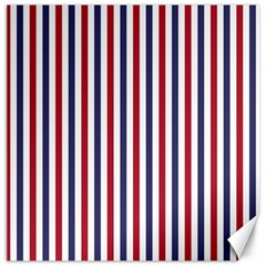 USA Flag Red White and Flag Blue Wide Stripes Canvas 16  x 16