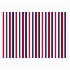 USA Flag Red White and Flag Blue Wide Stripes Large Glasses Cloth