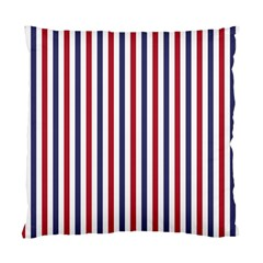 USA Flag Red White and Flag Blue Wide Stripes Standard Cushion Case (Two Sides)