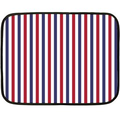USA Flag Red White and Flag Blue Wide Stripes Double Sided Fleece Blanket (Mini)