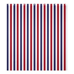 USA Flag Red White and Flag Blue Wide Stripes Shower Curtain 66  x 72  (Large)
