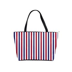 USA Flag Red White and Flag Blue Wide Stripes Shoulder Handbags