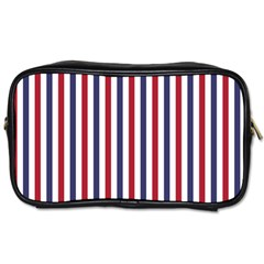 USA Flag Red White and Flag Blue Wide Stripes Toiletries Bags 2-Side