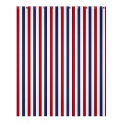 USA Flag Red White and Flag Blue Wide Stripes Shower Curtain 60  x 72  (Medium)
