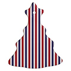 USA Flag Red White and Flag Blue Wide Stripes Ornament (Christmas Tree)