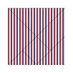 USA Flag Red White and Flag Blue Wide Stripes Acrylic Tangram Puzzle (6  x 6 )