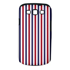 USA Flag Red White and Flag Blue Wide Stripes Samsung Galaxy S III Classic Hardshell Case (PC+Silicone)